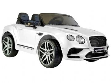 Bentley Continental Sports White Licenced 12v Electric Ride on Car + EVA Wheels